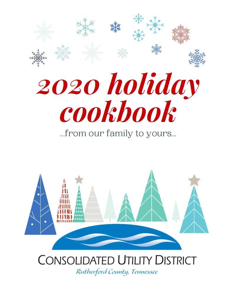 cover of 2020 holiday cookbook
